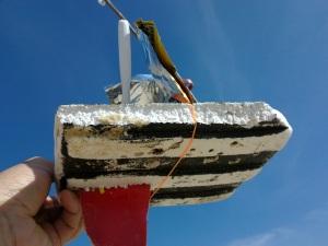 Flotsam rubbish sailing boats