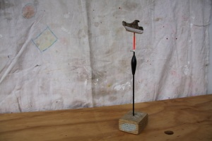 recycled found objects sculpture